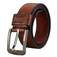 Men Waistband Premium Leather Metal Pin Buckle Waist Strap Casual Jeans Belts