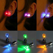 ** 1 Pair Light Up LED Bling Ear Studs Earrings Accessories for Dance/Xmas Party