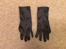 Ladies Black Satin Short / Wrist Gloves
