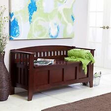 Storage Bench Seat Entryway Furniture Hallway Shoe Organizer Stool Solid Wood