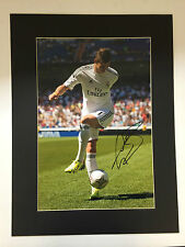 GARETH BALE SIGNED HUGE MOUNTED REAL MADRID FOOTBALL PHOTO+PHOTO PROOF*SEE BALE*