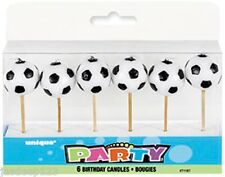 Football Soccer Ball Birthday Party Cake Pick Candles 6pk Decorations Supplies