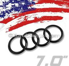 "1 - NEW Audi GLOSS BLACK REAR Rings Trunk Boot Badge Emblem A1 A3 B7 A4 A5 7"" GB"