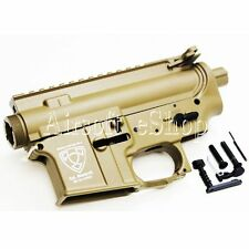 Airsoft APS Logo Upper & Lower Metal Body for M4/M16 AEG Dark Earth
