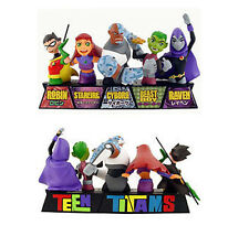 "DC Comics TEEN TITANS mini bust 6"" figure statue Full Set , JLA, Batman"