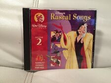 Walt Disney's Rascal Heroes Song CD Volume 2 RARE 1996...(PW)