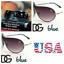 DG Eyewear Retro Bike Cycling Shield Sports Sunglasses UV Shades Avistor BLUE