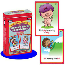 Auditory  Memory for Rhyming Words in Sentences Flash Cards Super Duper Speech