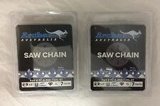 """2 Pack 20"""" Chainsaw Chain 3/8-050-72 SKIP TOOTH replaces 72JGX072G 33RSF-72"""