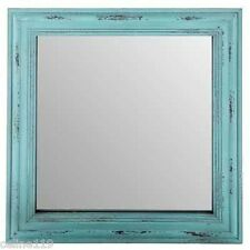 Distressed Square Vintage Turquoise Mirror Shabby Chic Home Decor NO TAX