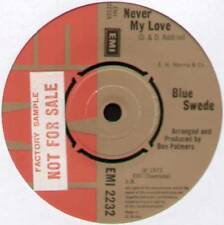 "[BJORN SKIFS] BLUE SWEDE ~ NEVER MY LOVE ~ 1973 UK 7"" SINGLE [""SAMPLE COPY""]"