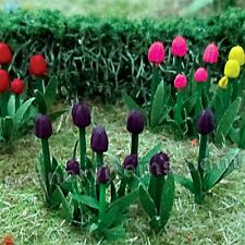 MP SCENERY 44 Tulips O Scale Architectural Flowering Plants Trees Railroad