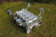 """V8 Engine - Coffee/Occasional Table 95% Upcycled """"Top Gear"""" style"""