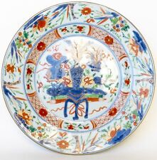 Plat Imari / Famille verte Kangxi Compagnie des Indes 18è / chinese export dish
