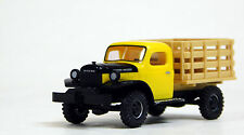 Busch 1/87 HO Dodge Power Wagon Stakebed Yellow SCALE REPLICA 44019