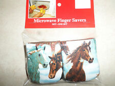 Horses-Microwave Oven Mitts-Hot Pads-Pot Holder-GREAT GIFT