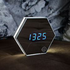 White Image Digital Digital Mirror Alarm Clock Thermometer LED Night Light