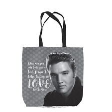 CAN'T HELP FALLING IN LOVE ELVIS DESIGN TOTE BAG SHOPPING VALENTINES DAY GIFT