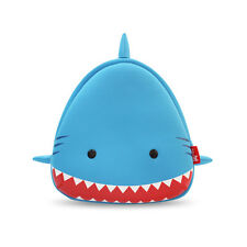 NOHOO Kids Shark Backpack School Bag Cute Boys Travel Animal Cartoon Zoo Blue