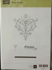 """ALWAYS ELEGANT"" Stampin'UP! NEW~CLEAR/CLING unmounted-Filigree, Always, flower"