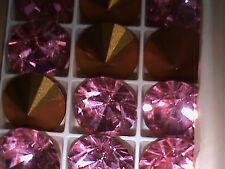 Swarovski Rhinestone SS 60 Brillion Art 1102 ROSE  Lot of 24 Stones