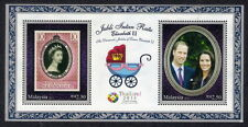 2013 MALAYSIA PRINCE WILLIAM & KATE (OVERPRINTED M/S) MNH