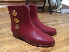 Vivienne Westwood Anglomania Melissa RED Rubber Boots US 7 EUR 38 Rain Boots