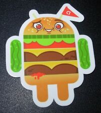 "ANDROID DROID Hamburger bot robot logo Sticker 2.5"" Google andrew bell"