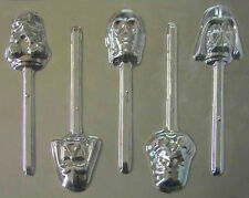 Star Wars Faces Group Lollipop Chocolate Candy Mold #203 - NEW