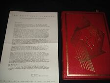 FRANKLIN MINT LIBRARY, 1st, signed, The Red White and Blue by John Gregory Dunne