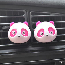 2x Panda Auto Car Perfume Air Freshener Auto Decoration Detailing Accessories