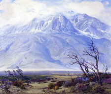 Storm Crest over Mount San...  by Fred Grayson Sayre   Giclee Canvas Print Repro