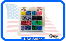 ACRYLIC Unicycle Dispenser ORGANIZER With 320 Keys ELASTOMERIC TIES 16 Colors