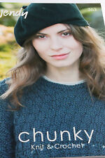 Wendy Chunky knitting and crochet Pattern Book 363