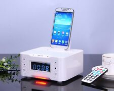 Bluetooth Speaker Alarm Clock FM Radio Mic Charger Station for iPhone 6 6s Plus