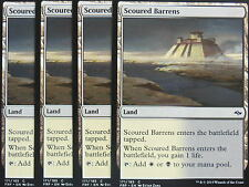 XXX 4x SCOURED BARRENS englisch fate reforged (lifegain dual land) NM/MINT XXX
