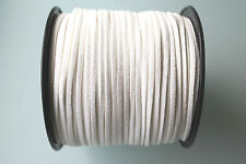 10 METERS WHITE COLOUR SUEDE LEATHER CORD