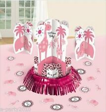SWEET SAFARI GIRL TABLE DECORATING KIT (23pc) ~ Baby Shower Party Supplies Pink