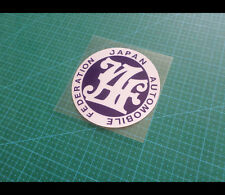 JAPAN AUTOMOBILE FEDERATION JAF JDM Fuel cap decal Reflective Sticker