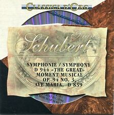 "CD - Franz Schubert - Symphonie - ""The Great"" - Moment Musical - Ave Maria"