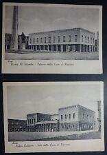 RAVENNA - LUGO - 2 BOZZETTI CASSA DI RISPARMIO - 1941