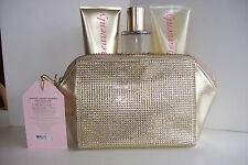 VICTORIA'S SECRET HEAVENLY MIST WASH LOTION GOLD TONE BLING CLUTCH