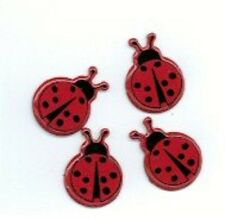 LADYBUG   BRADS ** 8 PCS ** SEE MY STORE ** EYELET OUTLET ** RED WITH BLACK