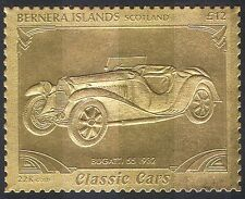 Bernera(L)  Bugatti/Vintage Car/Gold/Motoring/Transport 1v ref:n10079