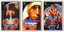 REAL BOUT FATAL FURY NEO GEO SET 3 FRIDGE MAGNET IMANES NEVERA