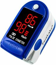 Pulse Oximeter Fingertip CMS50DL / FL400 Blood Oxygen SpO2 Monitor FDA - Blue