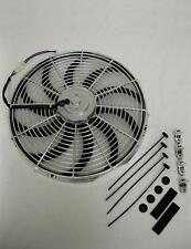 "16"" CHROME Street Rod Electric Cooling Fan S-Blade Fans 2400 CFM"