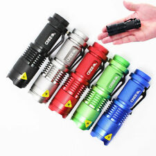 5pc 5colors CREE Q5 LED 600lm Mini ZOOMABLE Flashlight Torch 14500/AA