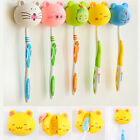 6Colors Lovely Cartoon Animal Head Toothbrush Holder Stand Cup Mount Suction