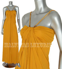 GUCCI GOWN GRECIAN DRAPED DRESS WITH BAMBOO DETAIL sz M / MEDIUM